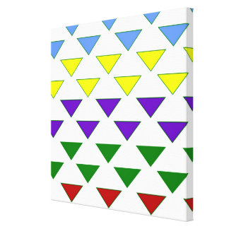 Triangle style pattern multi colors fun modern stretched canvas prints
