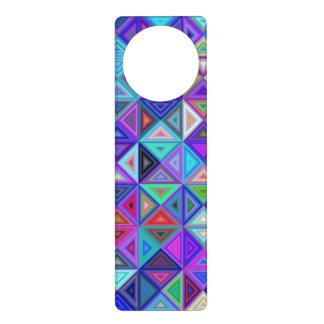 Triangle tile mosaic door hanger