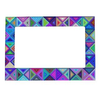 Triangle tile mosaic frame magnet