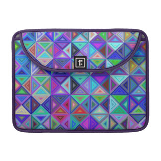 Triangle tile mosaic sleeve for MacBook pro