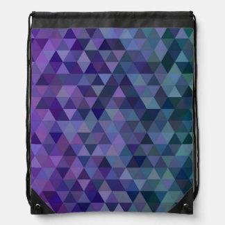 Triangle tiles drawstring bag