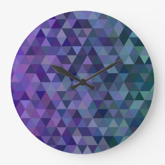Triangle tiles large clock