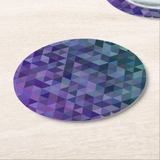 Triangle tiles round paper coaster