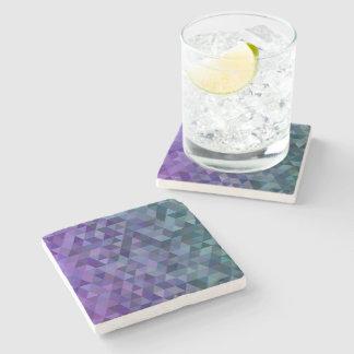 Triangle tiles stone beverage coaster