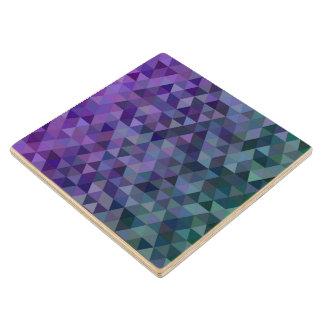 Triangle tiles wood coaster