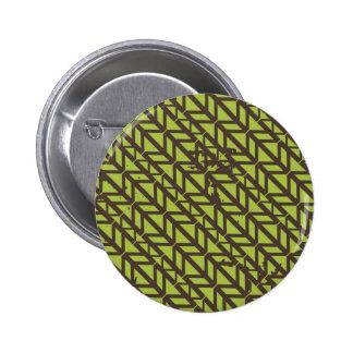 Triangle Tire Track pattern Pinback Button