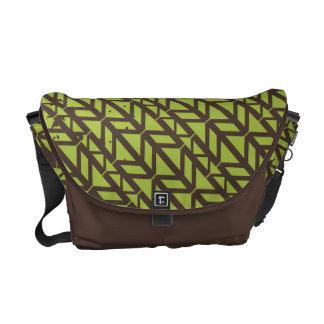 Triangle Tire Track pattern Courier Bags