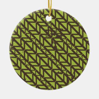 Triangle Tire Track pattern Round Ceramic Decoration