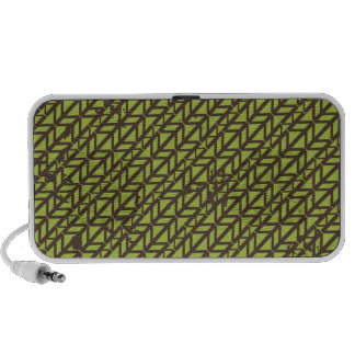 Triangle Tire Track pattern iPod Speakers