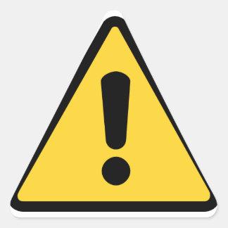 Triangle warning sticker