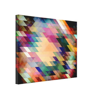 Triangles And Parallelograms Stretched Canvas Prints