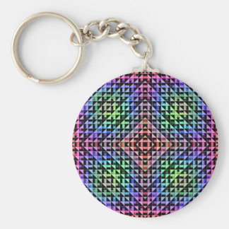 Triangles Basic Round Button Key Ring
