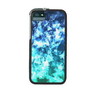 Triangles (blue/green) iPhone 5/5S cases