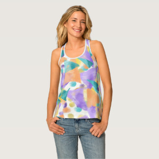 Triangles Galore Pastel Tank Top