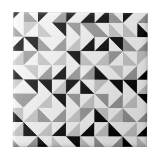 Triangles geometric pattern ceramic tile