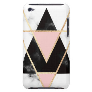 Triangles,gold,black,pink,marbles,collage,modern,t Case-Mate iPod Touch Case