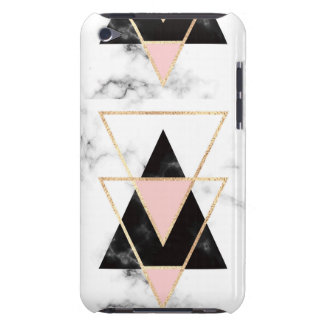 Triangles,gold,black,pink,marbles,collage,modern,t iPod Case-Mate Cases