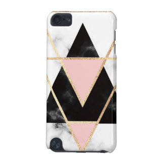 Triangles,gold,black,pink,marbles,collage,modern,t iPod Touch 5G Cover