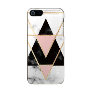 triangles,gold,silver,white,marbles,modern,trendy, incipio feather® shine iPhone 5 case