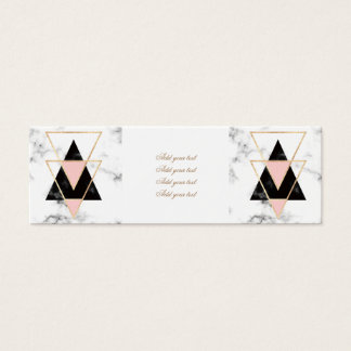 triangles,gold,silver,white,marbles,modern,trendy, mini business card