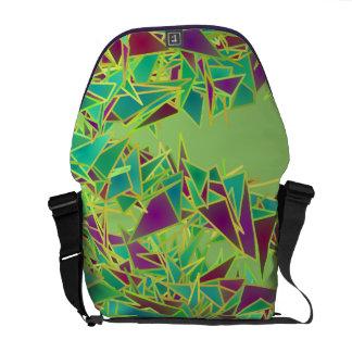 Triangles In Flight Rickshaw Messenger Bag