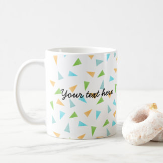 Triangles in pastel colors, modern pattern coffee mug
