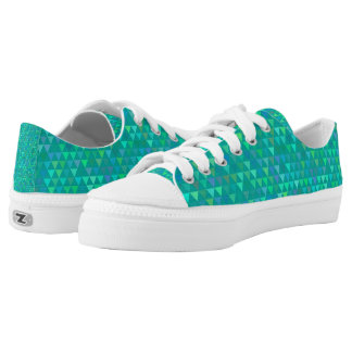 Triangles - Light Teal Printed Shoes