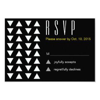 Triangles Modern patternwedding RSVP 9 Cm X 13 Cm Invitation Card