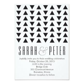 Triangles Modern Wedding Invitation