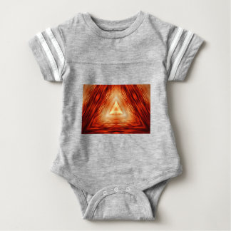 Triangles of fire baby bodysuit