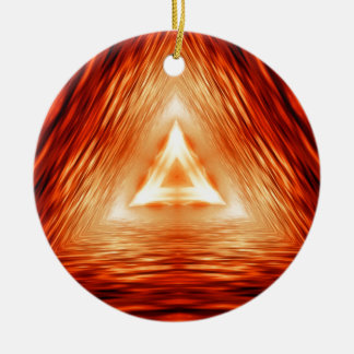 Triangles of fire ceramic ornament
