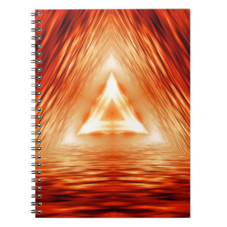 Triangles of fire spiral notebook