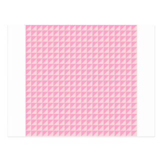 Triangles - Pale Pink and Carnation Pink Postcard