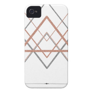 Triangles Rose Gold Silver iPhone 4 Cases