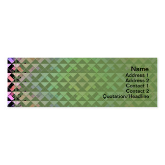 Triangles Rotated Business Card Templates
