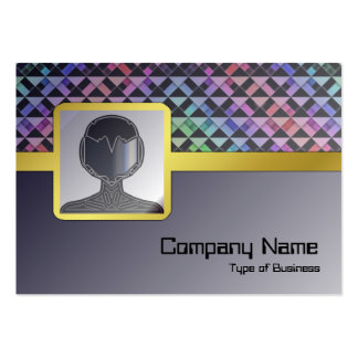 Triangles Rotated Business Card Template