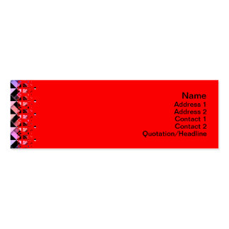 Triangles Rotated Pack Of Skinny Business Cards