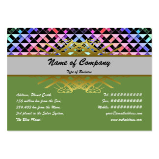 Triangles Rotated Large Business Cards (Pack Of 100)