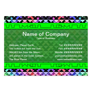 Triangles Rotated Business Cards
