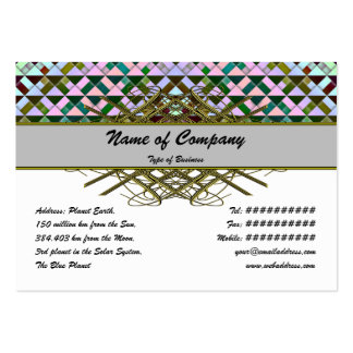 Triangles Rotated Inverted Pack Of Chubby Business Cards