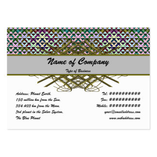 Triangles Rotated Inverted Small Pack Of Chubby Business Cards