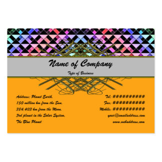 Triangles Rotated Pack Of Chubby Business Cards