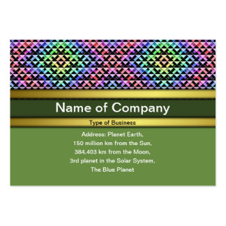 Triangles Rotated Small Pack Of Chubby Business Cards