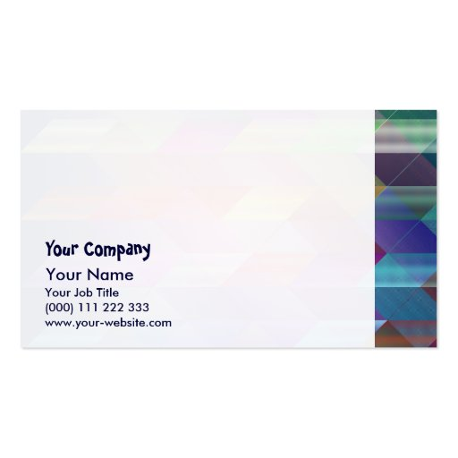 Triangles structure business card templates