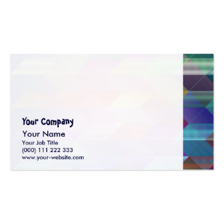 Triangles structure pack of standard business cards