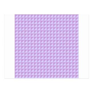 Triangles - Wisteria and Pale Lavender Postcard