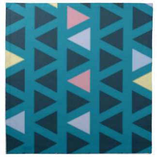 Triangles With Blue and Pink Love Napkin
