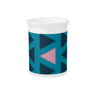 Triangles With Blue and Pink Love Pitcher