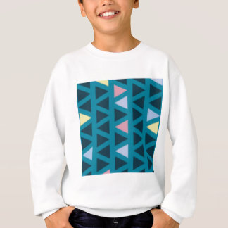Triangles With Blue and Pink Love Sweatshirt