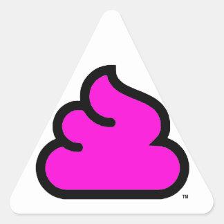 triangolo Merda Fluorescent Triangle Sticker
